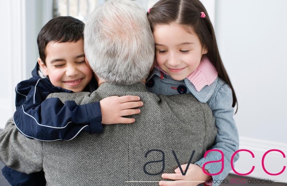 Le droit de visite des grands parents est important pour les petits enfants